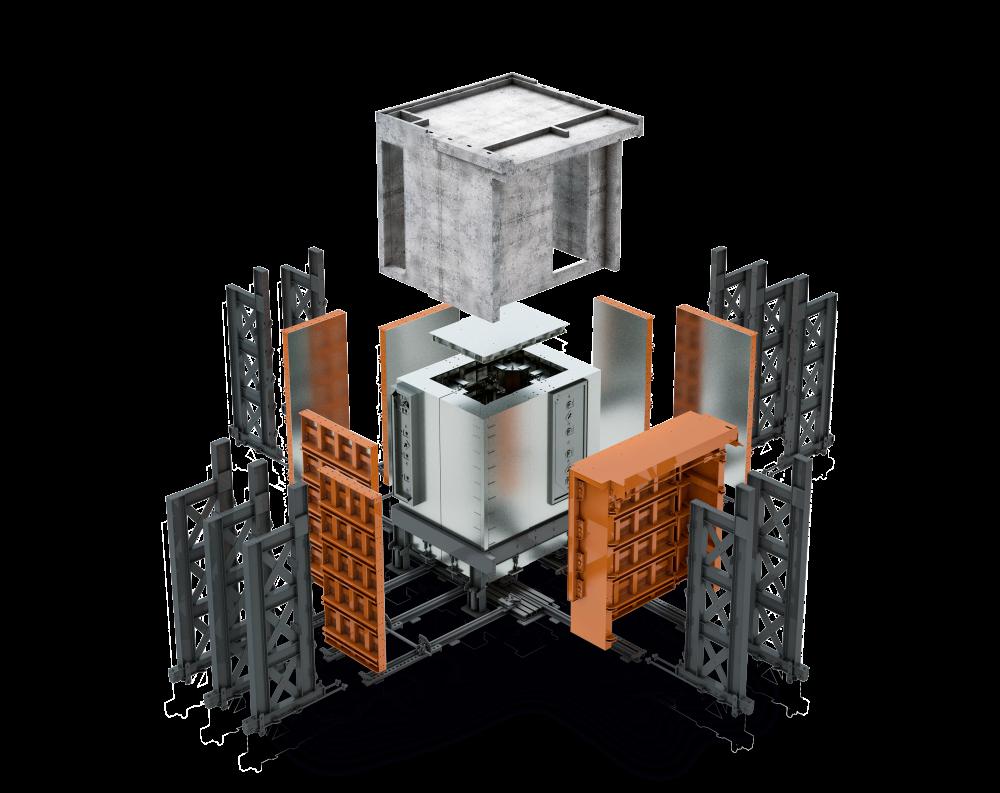 3D Schalung - Explosionsansicht